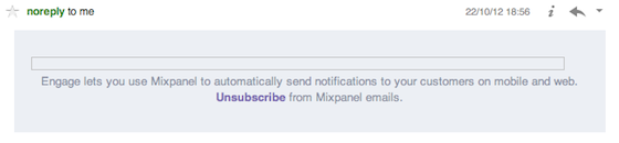 Voorbeeld van een slechte HTML email